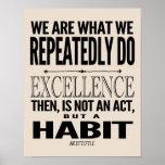 Póster La excelencia es un hábito el | elige su color