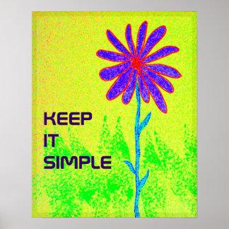 Póster La flor salvaje lo guarda poster simple