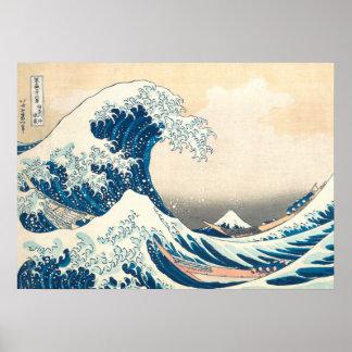 Póster La gran onda apagado de Kanagawa