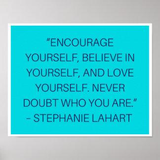 Póster La inspiración de Stephanie Lahart cita el poster