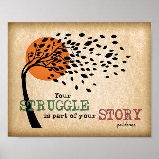 Póster La lucha es parte de su historia: Cita de la