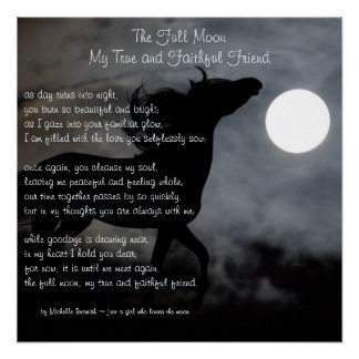 Póster La Luna Llena, mi poema del ~ del amigo verdadero