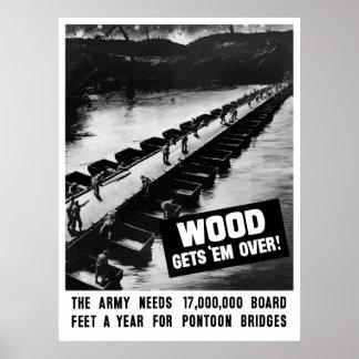 Póster La madera los consigue encima -- WW2