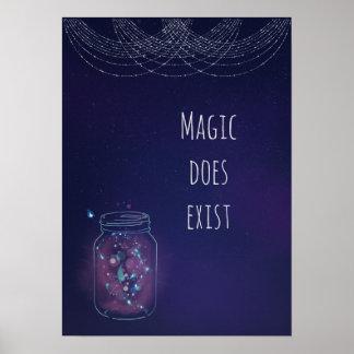 Póster La magia existe tarro de la luciérnaga