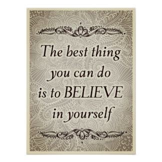 Póster La mejor cosa - Quote´s positivo
