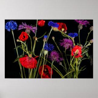 Póster La oficina de la flora del flor personaliza