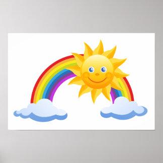 Póster La oficina de Sun del arco iris personaliza