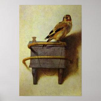 Póster La reproducción de la pintura del Goldfinch