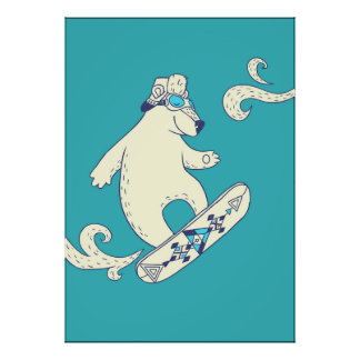 Póster La snowboard