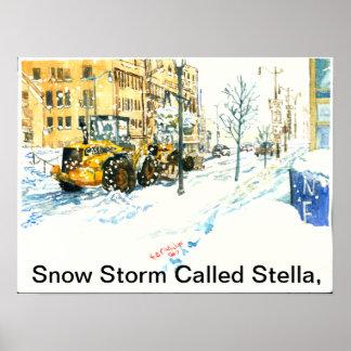 Póster La tormenta de la nieve llamó a Stella,