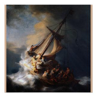 Póster La tormenta en el mar de Galilea