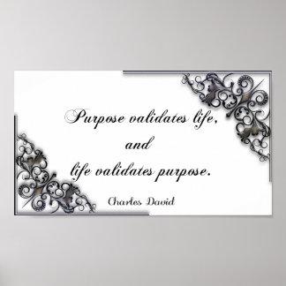 Póster La validación de la vida