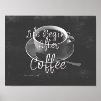 Póster La vida comienza después de café