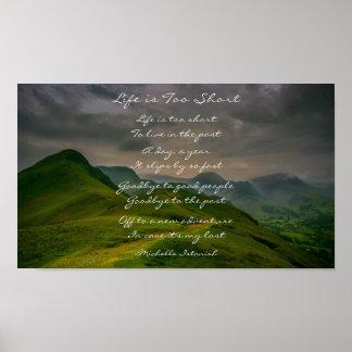 Póster La vida es poema demasiado corto de la montaña de