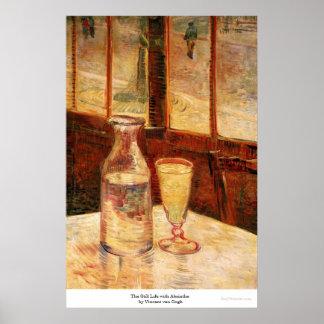 Póster La vida inmóvil con el ajenjo de Vincent van Gogh