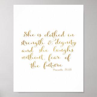 Póster La visten con fuerza y dignidad