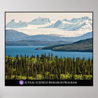 Póster Lago Altin y el poster de Juneau Icefield