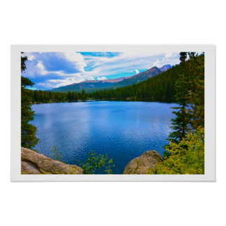 Póster Lago colorado