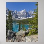 Póster Lago moraine, canadiense Rockies, Alberta, Canadá
