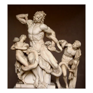 Póster Laocoon e hijos