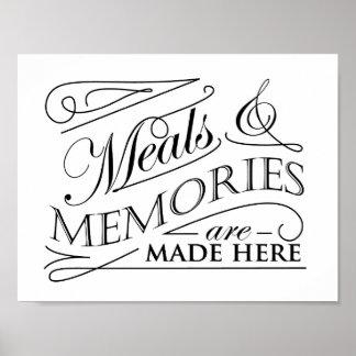 Póster Las comidas y las memorias se hacen aquí citan