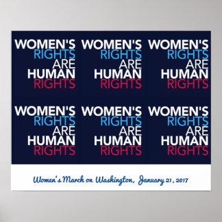 Póster Las derechas de las mujeres - marzo en el poster