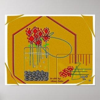 """Póster Las """"flores frescas hacen siempre el papel mate de"""