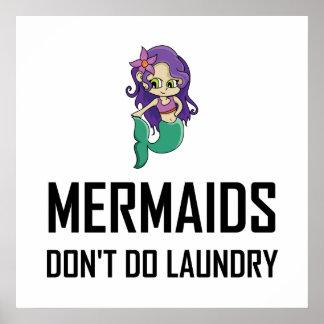 Póster Las sirenas no hacen el lavadero