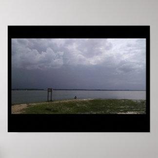 Póster Las tormentas de la Florida de la playa de