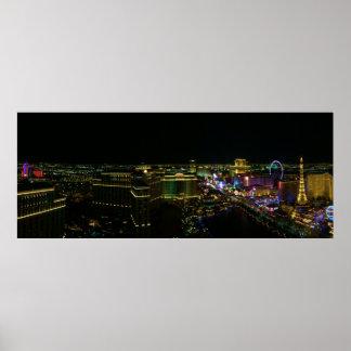 Póster Las Vegas en la noche