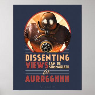 Póster Las visiónes disidentes pueden ser el poster