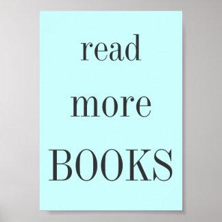 Póster Lea más libros
