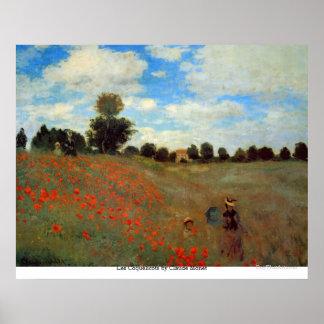 Póster Les Coquelicots de Claude Monet