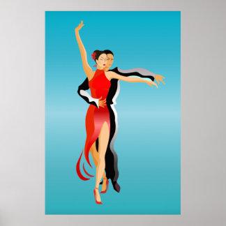 Póster LG. Serie de la danza de los bailarines de la