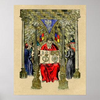 Póster Libro medieval de la alquimia