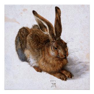 """Póster """"Liebres"""" por Albrecht Dürer, 1502"""