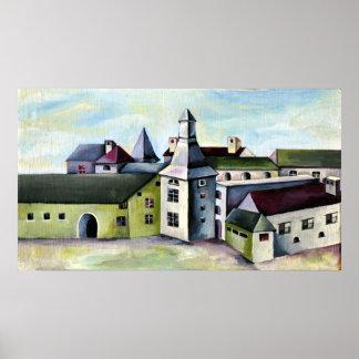 Póster Lieja, un castillo de piedra místico surrealista