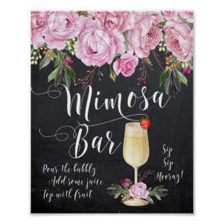 Póster Lila de la muestra del boda de la barra del Mimosa