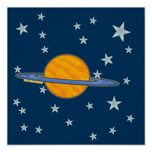 Poster lindo de Saturn