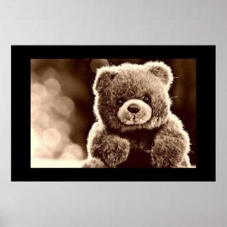 Poster lindo, mimoso del oso de peluche póster