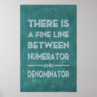 Póster Línea fina - poster de la matemáticas
