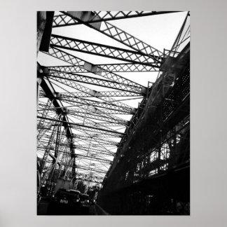 Póster Líneas de ciudad