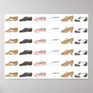 Poster lírico del zapato del estudio de la danza póster