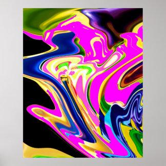 Póster Llamarada rosada de la energía - modelo curativo