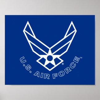 Póster Logotipo de la fuerza aérea - azul