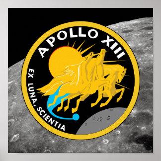 Póster Logotipo del remiendo de la misión de la NASA de
