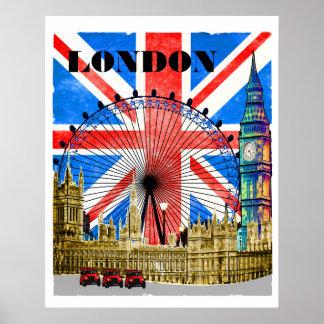 Póster Londres Inglaterra Big Ben