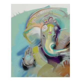 Póster Lord Ganesh Elephant Buddha