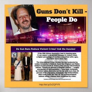 Póster Los armas no matan - la gente hace el POSTER