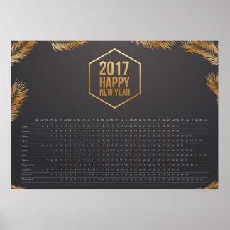 Póster los calendarios hacen calendarios 2017